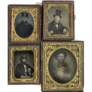 Daguerreotypes and Ambrotypes of Men with Hats,