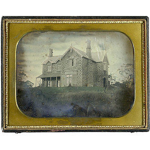 Full Plate Daguerreotype of A Home in Columbiana Co., Ohio,