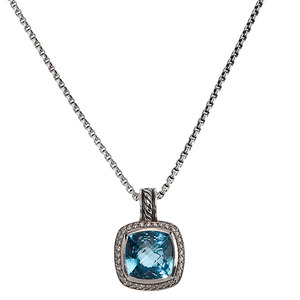 David Yurman Albion Blue Topaz Pendant Enhancer
