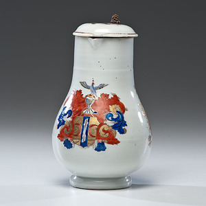 Chinese Export Armorial Covered Jug