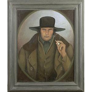 Folk Art Portrait of a Frontiersman,