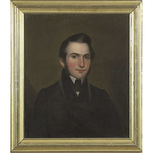Oil on Canvas Portrait Attributed to Thomas Ball,