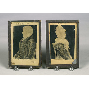 Pencil and Ink Sketches of West Virginia Pioneers Robert and Elizabeth Woods,