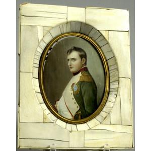 Napoleon Miniature Oil on Ivory,