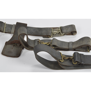 Militia Snake Buckles and Belts, Lot of Three