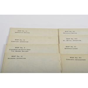 WWI Field Maps, Lot of Twelve (12)