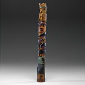 Northwest Coast Carved Polychrome Totem Pole
