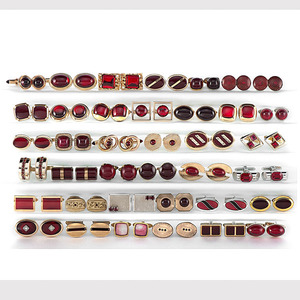 Collection of Red Stone Cufflinks