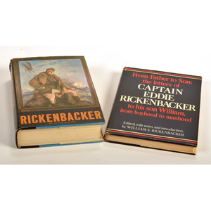 Eddie Rickenbacker, American World War I Fighter Ace, Inscribed Book & Signed Promotional Flyers, Plus