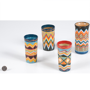 Painted Candle Jars from the Shiprock Trading Post