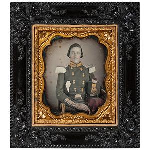 Fine Sixth Plate Daguerreotype of a Militiaman