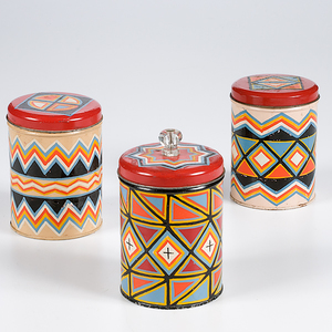 Painted Tin Jars from the Shiprock Trading Post