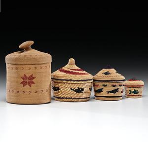 Attu, Makah, and Nootka Baskets