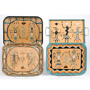 Painted Tin Trays from the Shiprock Trading Post