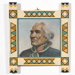 Painting of a Navajo Man from The Shiprock Trading Post