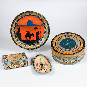 Assorted Painted Tins and Boxes from the Shiprock Trading Post