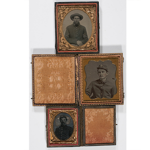 Civil War Cased Tintypes of Soldiers, Group of Three