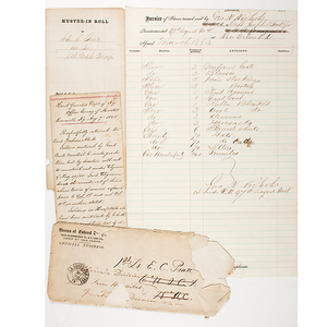 Major General Benjamin Butler Signed Provisional Commission, Plus Other Civil War-Period Documents