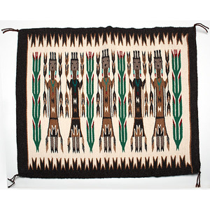Anna Blackwater Navajo Yei Weaving