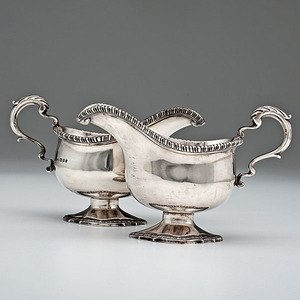 English Sterling Sauce Boats