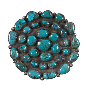 Navajo Turquoise Cluster Pin/Pendant From the Collection of Dr. Kent and Karen Vickery, Colorado
