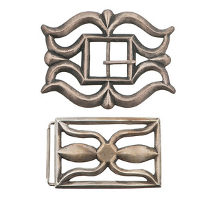 Navajo Tufa-Cast Buckles From the Collection of Dr. Kent and Karen Vickery, Colorado
