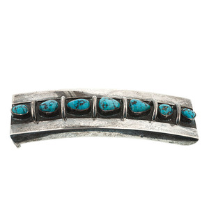 Mark Chee Navajo Buckle with Turquoise From the Collection of Dr. Kent and Karen Vickery, Colorado
