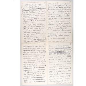 Civil War General Horace B. Sargent, Handwritten, Post-War Manuscript