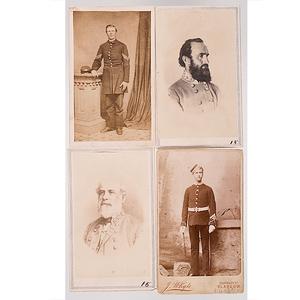 Robert E. Lee & Stonewall Jackson CDVs, Plus Other Military CDVs