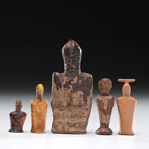 St. Lawrence Island Eskimo Fossilized Ivory Dolls