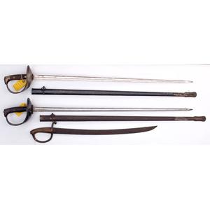 Spanish Artillery Swords Lot of Three