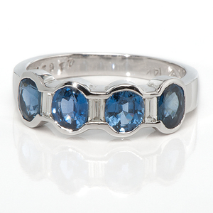 Ladies 14 Karat White Gold, Tanzanite and Diamond Ring