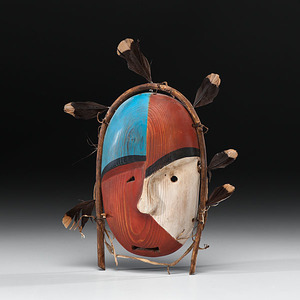Nunivak Island Painted Mask From the Collection of Dr. Kent and Karen Vickery, Colorado
