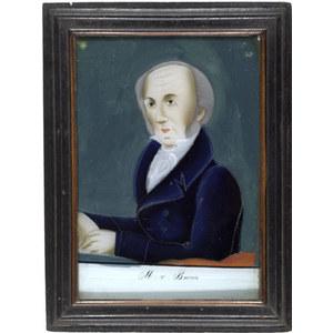 Martin Van Buren Reverse Painting on Glass,