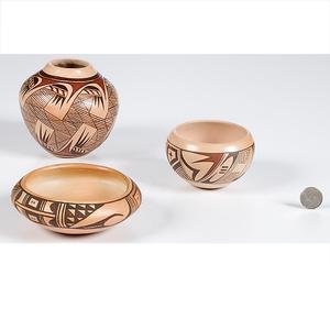 Adelle Nampeyo and L. Namingha Hopi Bowls