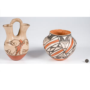 Jemez Wedding Vase and Acoma Jar From the Collection of Dr. Kent and Karen Vickery, Colorado