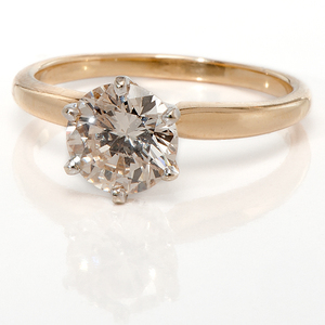 Ladies One Carat Diamond Solitaire