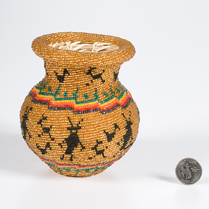 Southwestern Beaded Basket