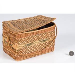 Quileute Northwest Coast Lidded Basket