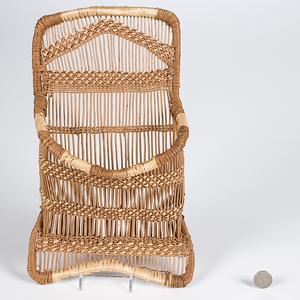 Hupa Basketry Wall Pocket
