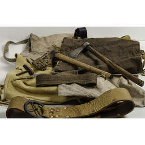 Lot of Two Modern Tomahawks and Reenactors' Accessories
