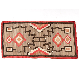 Navajo Storm Pattern Variant Weaving