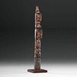Tlingit Wrangell Raven Totem Pole