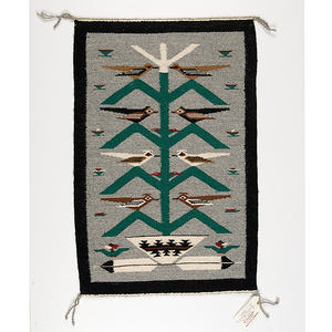 Ella Mae Begay Navajo Tree of Life Weaving From the Collection of Dr. Kent and Karen Vickery, Colorado