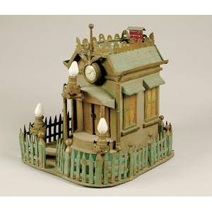 Folk Art Whimsical Building Bank,