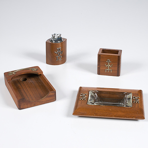 Southwestern Wooden Desk Set From the Collection of Dr. Kent and Karen Vickery, Colorado