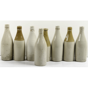 Early Beer Bottles, Lot of Eight