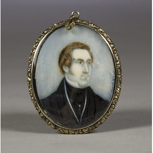 Miniature oil on Ivory by W. Sharp,