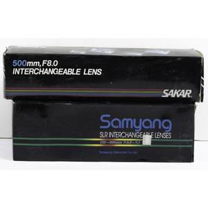Samyang and Sakar Interchangeable Lenses