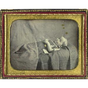 Half Plate Daguerreotype of Child Post Mortem,